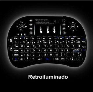 Rii i8 -Mini Teclado Ergonómico con Touchpad