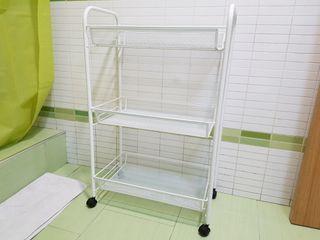 CARRITO MUEBLE RUEDAS BAÑO IKEA BLANCO
