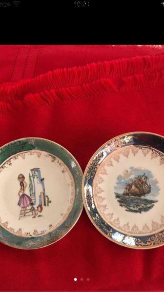 Dos platitos decoración cerámica
