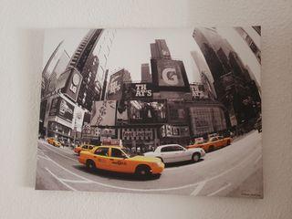 cuadro new york y cojines a juego