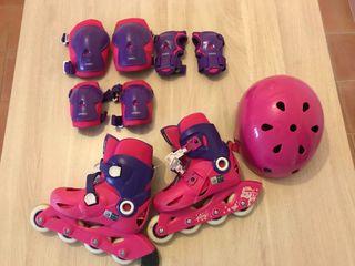 Equipo completo patines niña