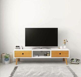Mueble para la TV de madera maciza de pino blanco