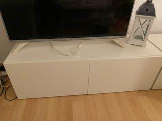 Mueble tv blanco con dos puertas, nuevo.