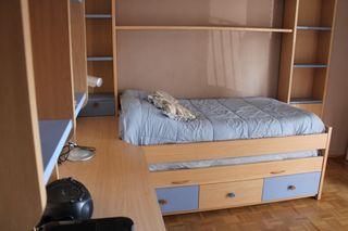 dormitorio joven mesa escritorio cama nido