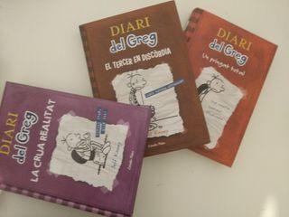 Tres libros Diario de Greg (Catalán)