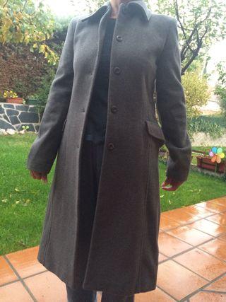 Abrigo 3/4 gris talla S como nuevo