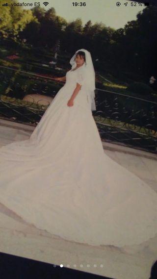 Vestido de NOVIA - Blanco con Pedrería- CHOLLO!!!