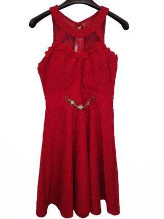 Vestido fiesta rojo M