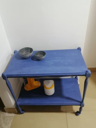 Mesa Auxiliar de Cocina Azul Intenso