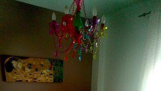 Lampara salón-dormitorio diseño de colores