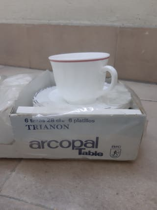 Juego de 6 tazas Arcopal / En su caja sin abrir