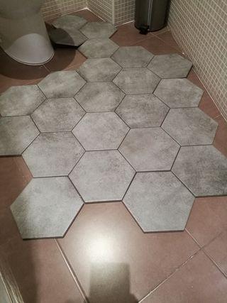 Gres porcelanico hexagonal