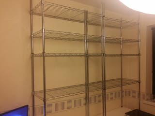 5 heavy duty steel wire rack shelf storage