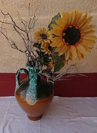 jarrón bote baúl cesta decoración cerámica barro