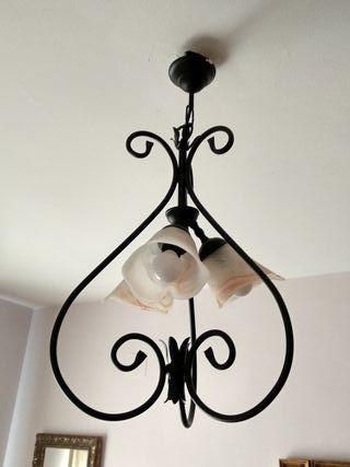 Lámpara dormitorio forja
