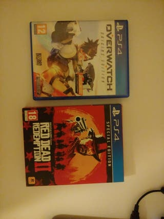 Red dead redemption 2,overwatch y gran turismo ps4