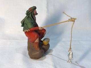 Figuras de belén o nacimiento. Figura de pescador
