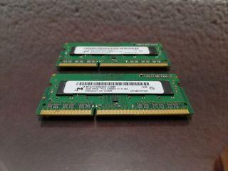 Memorias ram de MacBook pro 4GB