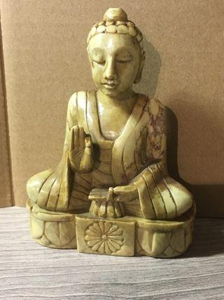 Antigua escultura tipo buda oriental nepali