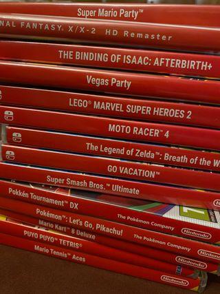 Vendo cajas vacías Nintendo switch