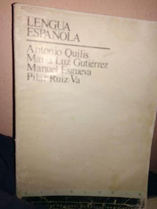LENGUA ESPAÑOLA FILOLOGIA UNED