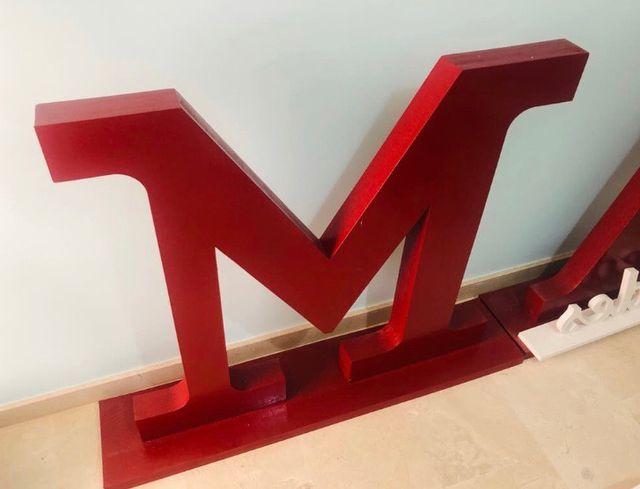 Letras boda o celebración A&M