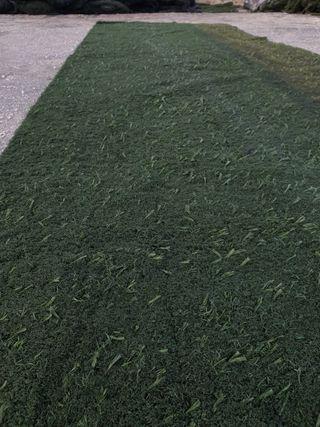 Césped artificial reciclado de campos de fútbol