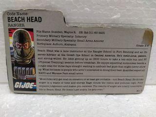 Gi Joe FILECARD BEACH HEAD V.1 de 1986. RANGER