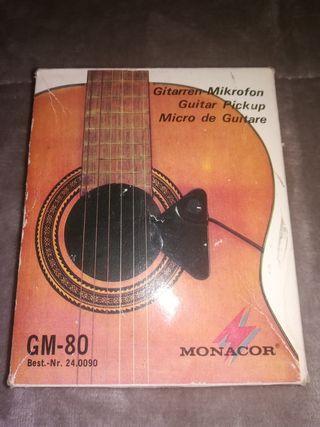 micrófono de guitarra.
