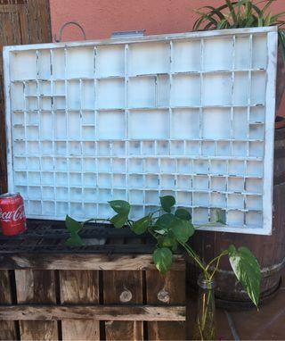 Antiguo cajón de chibalete o imprenta muy GRANDE