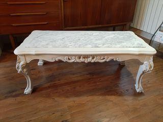 Mesa baja madera y marmol