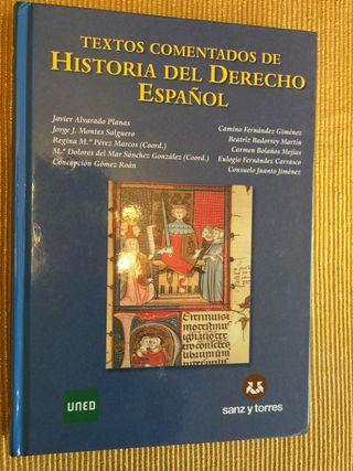 TEXTOS COMENTADOS DE HISTORIA DEL DERECHO ESPAÑOL