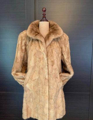 Abrigo visón color natural