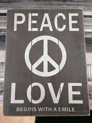 Cuadro de paz y amor