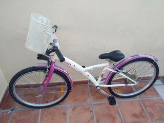 bicicleta de paseo con cesta