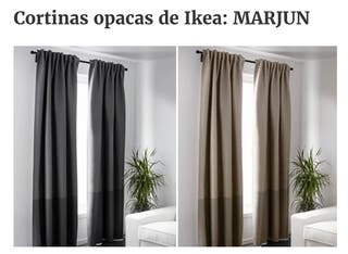 Cortinas opacas 2 modelos de Ikea+barra+soporte de segunda