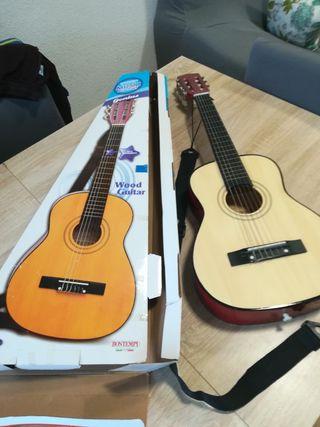 Guitarra de madera de niños