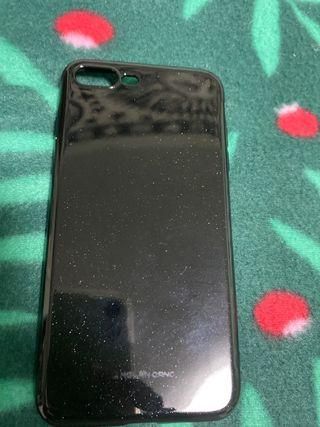 Funda negra con purpurina iPhone 7/8 plus