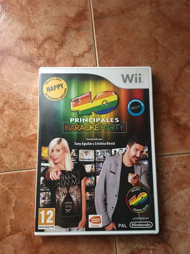 40 principales karaoke party para Wii U y Wii