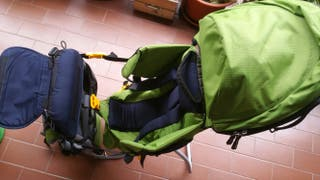 Mochila portabebés trecking