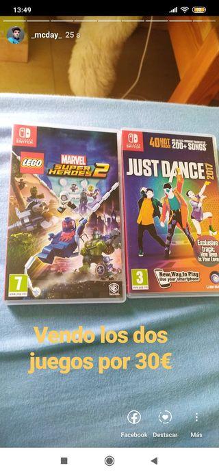Lego Marvel super heroes 2 y just dance 2017