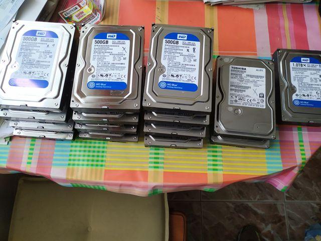 Lote 15 discos duros estropeados