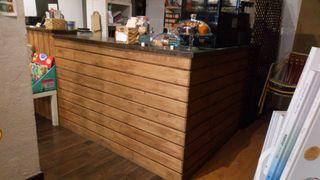 Barra cafetería-aparador comercio
