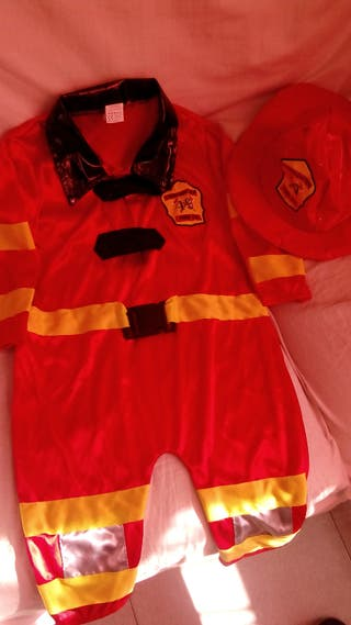 Disfraz de bombero talla 1 a 2 años