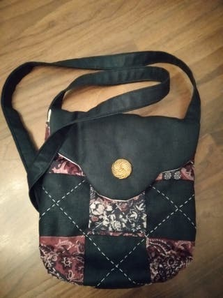 Bolso patchwork hecho a mano