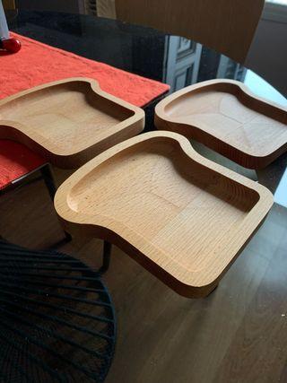 Bandeja/plato de pan - 3 piezas idénticas