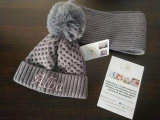 gorrito y bufanda personalizado para niños.