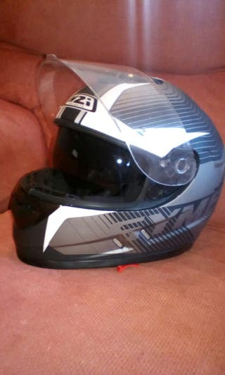 Casco integral + guantes