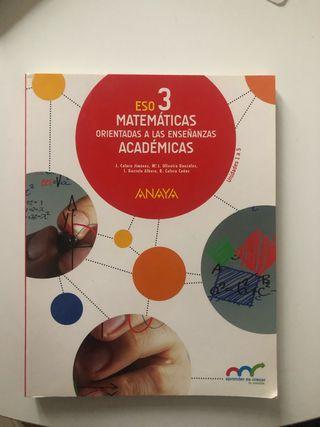 libro texto matematicas 3° eso anaya