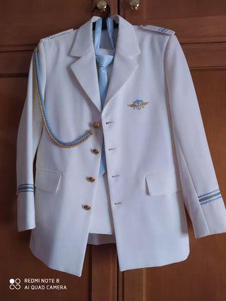 traje comunión blanco de almirante